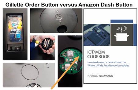 Gillette Order Button versus Amazon Dash