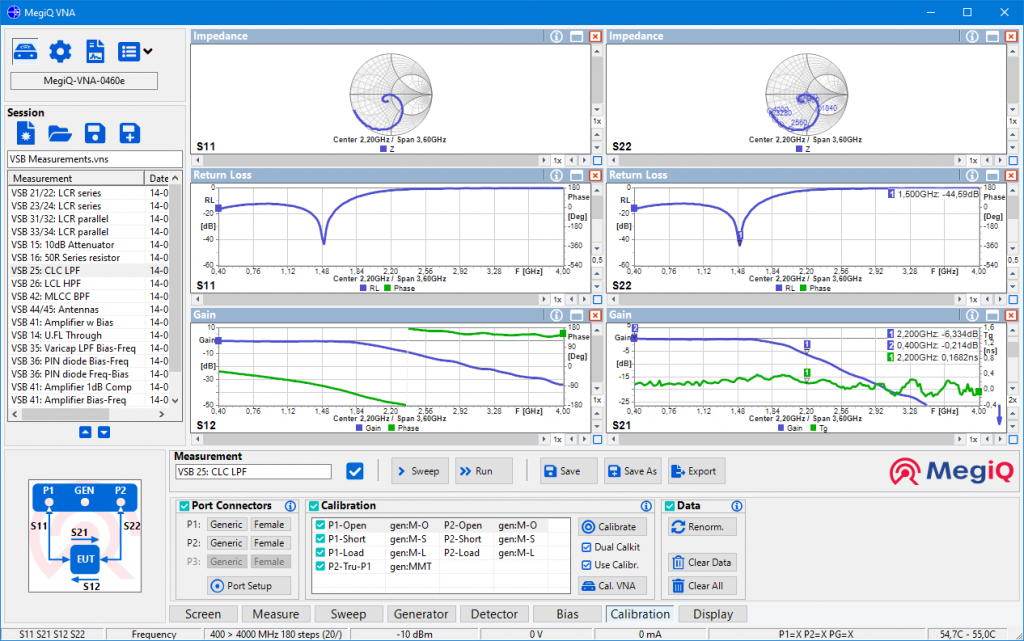 MegiQ Software screen